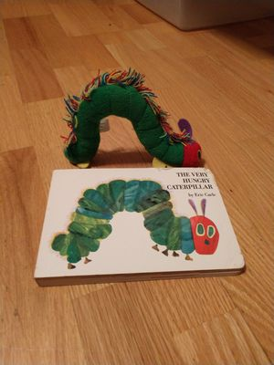 The very hungry caterpillar and stuffed animal