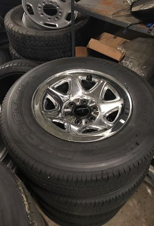 Brand new 17 inch chrome wheels with brand new tires