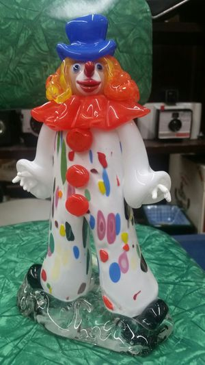 Bohemian art glass clown stamped ZBS