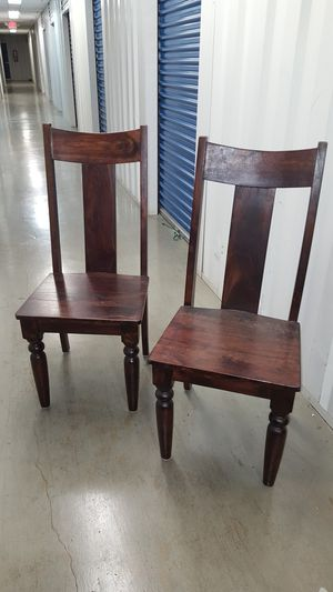 Pair High Back Chairs