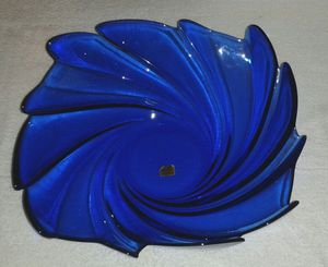 Rare ARCOROC Blue Swirl Glasses Bowl