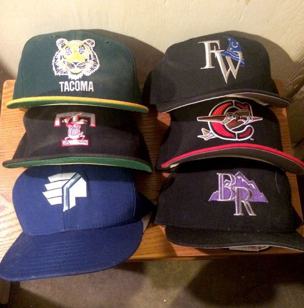 lot vintage minor league baseball hats