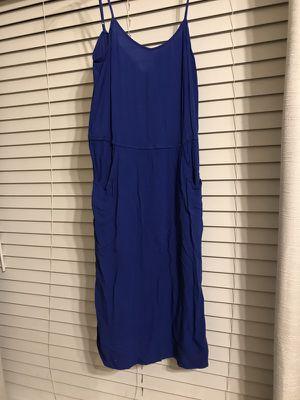 Blue Small Linen Dress