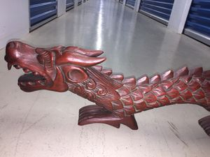 Asian wood-carved dragon