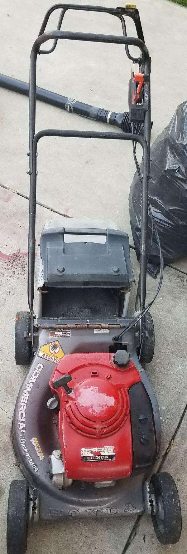 lawnmower honda commercial hrc-216 hydrostatic (tools & machinery