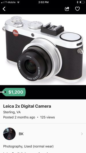 Leica 2x digital camera now selling for $900