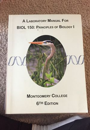 A laboratory manual for BIOL 150: Principles of biology