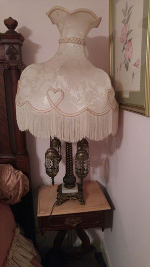 Victorian lamp with Victorian shade