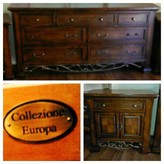 COLLEZIONE EUROPA Dresser And Nightstands For Sale Furniture In - Collezione europa furniture designs