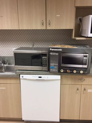 Panasonic silver new microwave