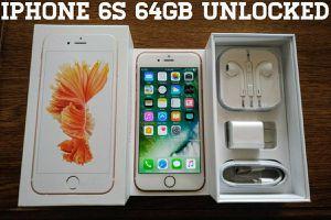 Iphone 6S 64GB UNLOCKED (Like New) Rose Gold