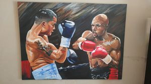 Original Painting for Showtime Boxing promoting 36x48 canvad