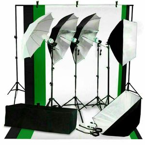New photo equipment 4 stands 3 umbrellas 2 softboxes 3 backdrops