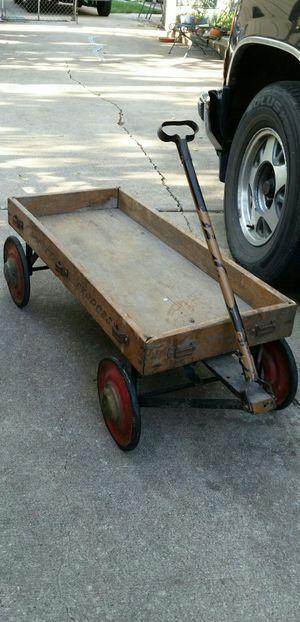 Antique Rocket Express Little Red Wagon