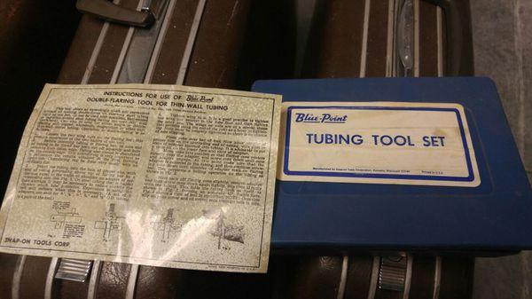 Vintage Tubing Tool Set Never Used Super Cool Tools Machinery