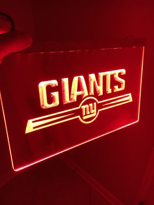 NEW YORK GIANTS LOGO LED LIGHT SIGN