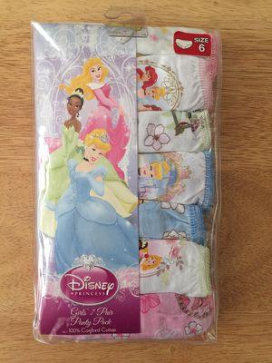Brand New Girl's Disney Princess Underwear