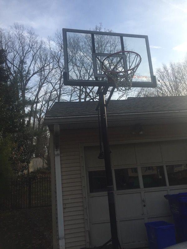 Basketball hoop. Must haul away.