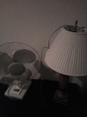 Van and lamp