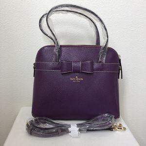 Kate Spade Kirk Park Medium Maise Satchel + Strap purple