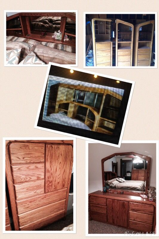 Arbek 9pc Oak Bedroom Set (Furniture) in Elwood, IN - OfferUp