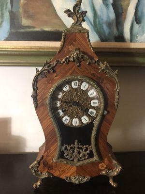 Beautiful Brass Inlay Boulle Clock