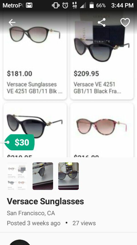 972fa657a95 Versace Sunglasses VE 2120   S (NEW) (Jewelry   Accessories) in Orlando