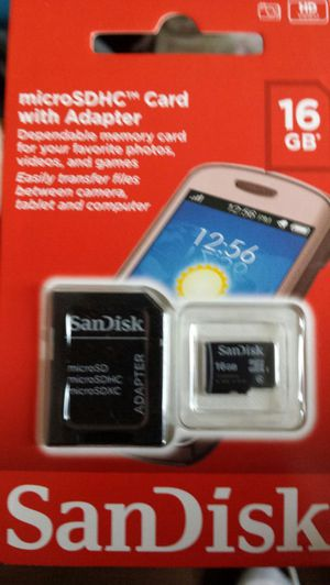 SanDisk microsdhc card with adapter