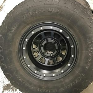 "Steel Chevy Wheels with 35"" Tires"