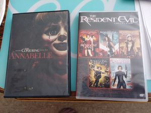 Annabelle and Resident Evil Collection DVD's