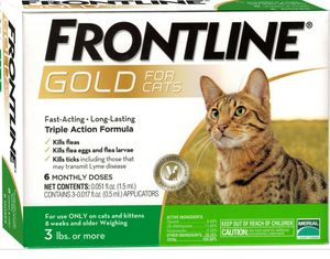 Frontline gold for cats 3pk