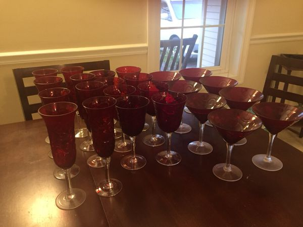 Wine, champagne and martini glasses from Pier 1