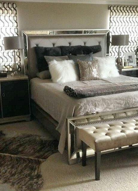 brand new queen ava mirrored bed set - Mirrored Bed Frame