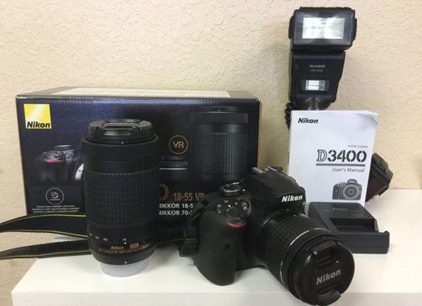 Nikon D3400 Bundle 18-55mm & 70-300mm