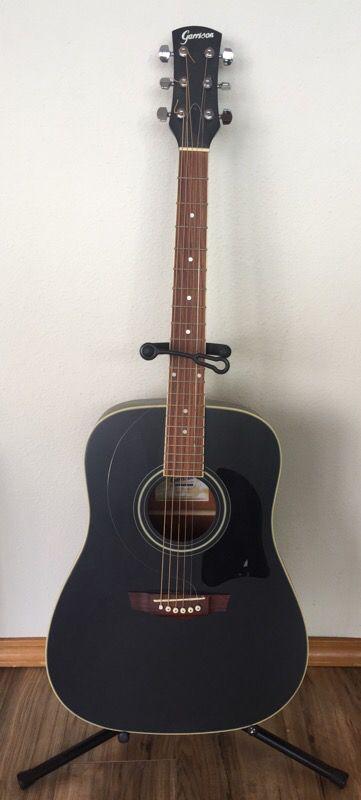 Garrison AG 200 BK Matte Black Acoustic Guitar