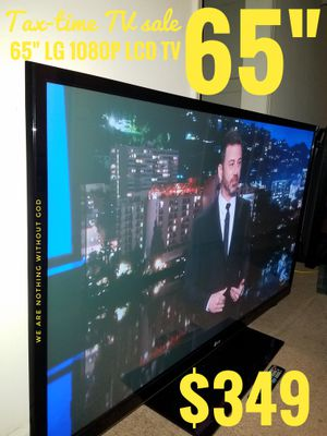 "65"" LG 1080P LCD TV + REMOTE. yes! 65 INCHES. READ DESCRIPTION"