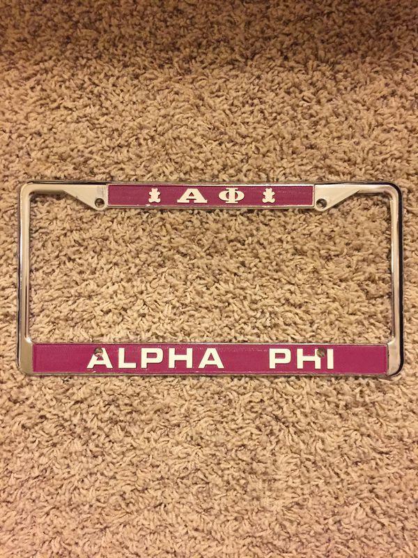 Alpha Phi Alpha License Plate Frame - Best Plate 2018
