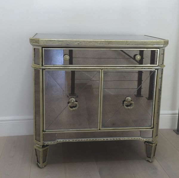 z gallerie borghese mirrored nightstandside chest 190 borghese mirrored furniture