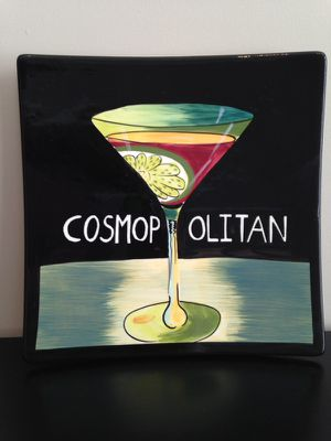 Cosmo wall art plate, 10 x 10