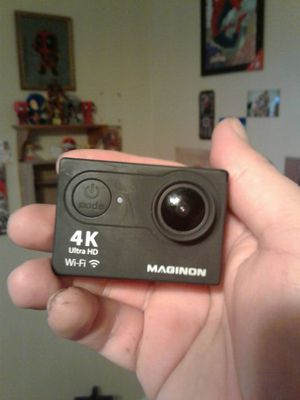 Maginon 4k hd action camera with mounts and extra battery for sale  Derby, KS
