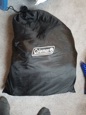 Twin blow up mattress and car pump for camping!