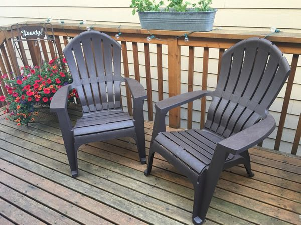 Set of 2 resin adirondack chairs new furniture in for Furniture edmonds wa