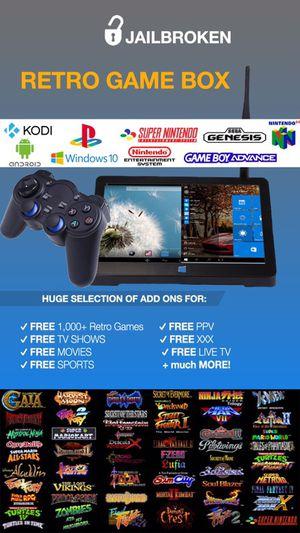 THE COMPLETE BOX‼️ || RETRO GAME BOX PLAY 1,000's FREE Games 🕹 || w/ Kodi 17.4, Mobdro & Show Box 🖥 || Better than Amazon Fire Stick 👎🏽