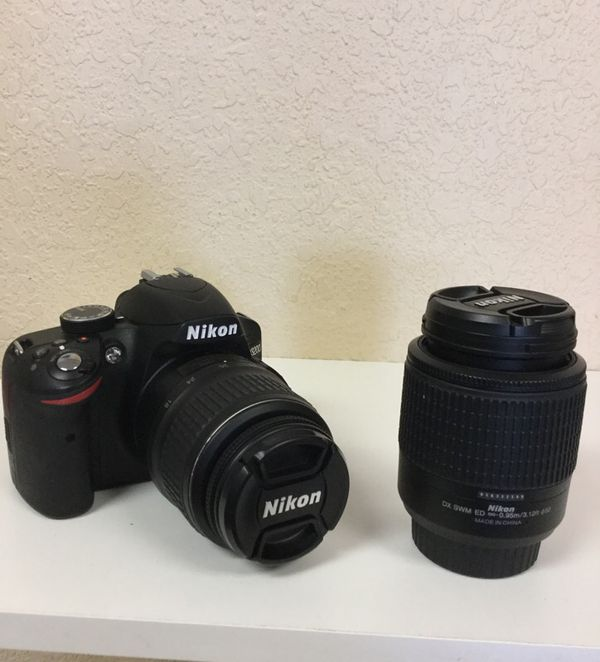 Nikon D3200 with 2 Lenses 24.2 Megapixels