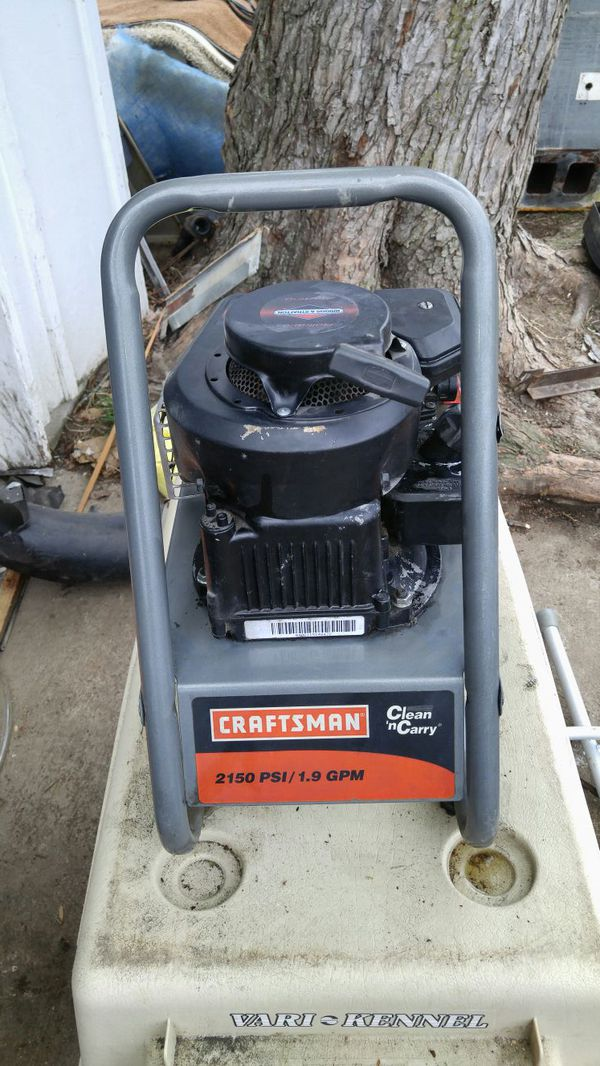 Craftsman clean And carry 2000 Psi pressure washer manual