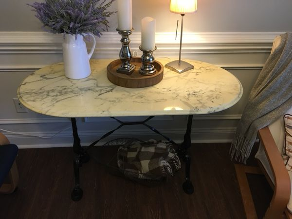 French Bistro Table Marble Top Patisserie Antiques In Fayetteville NC