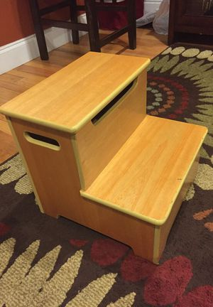 Wood step stool from Target