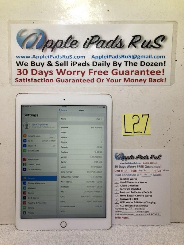 L27 - iPad Air 2 16GB Cell-Unlocked