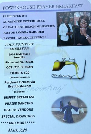 ANOINTED POWERHOUSE OF FAITH OUTREACH MINISTRIES PRAYER BREAKFAST