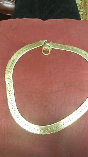 Beautiful wide Gold around neck chain